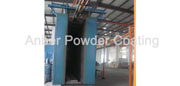 Fluidized bed powder coating line