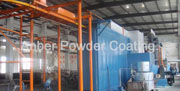 Fence sheet powder coating line