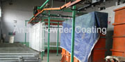 Powder dip-coating line