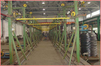 wire take-up of wire galvanizing line