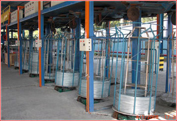 wire pay-off of wire galvanizing line