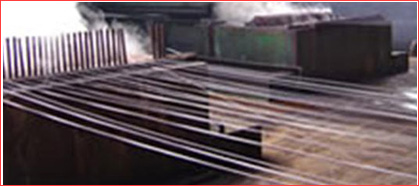 Zinc pool of the wire galvanizing line